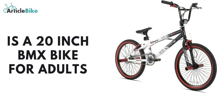 Is a 20 inch BMX bike for adults