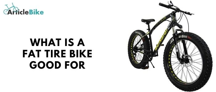 What is a fat tire bike good for